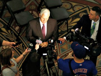 Mike Pence, Reporters Chad RyanThe Journal-Gazette, via Associated Press