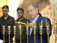 Netanyahu-Jerusalem-UN-Menorah-Western-Wall (Getty)