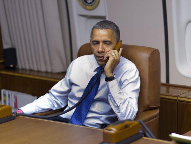 Obama on the phone (Mandel Ngan / Getty)