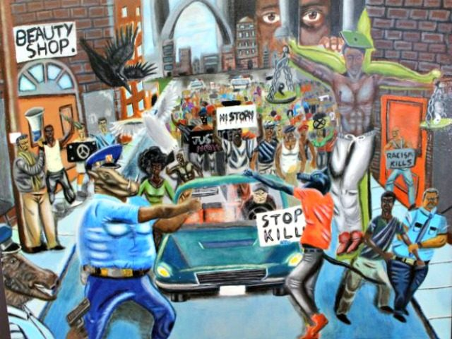 Painting of Cops as Animals