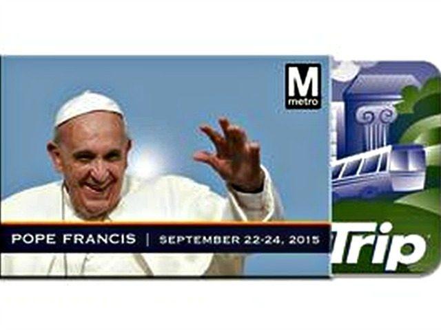 Pope Francis Metro Card