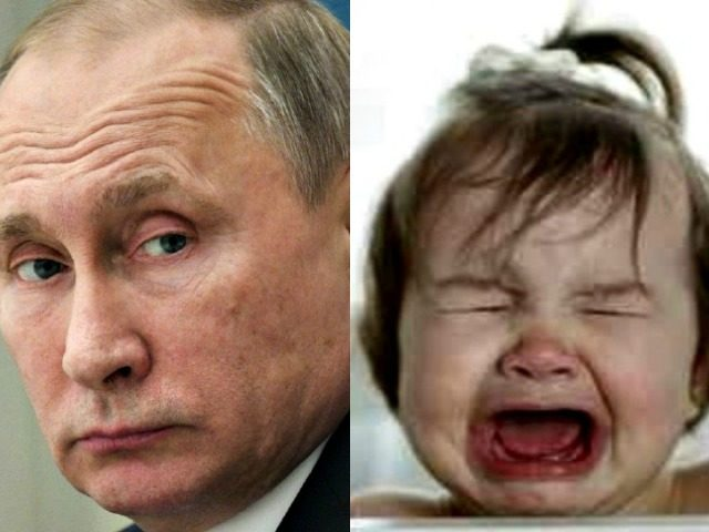 Putin and Crying Baby AP
