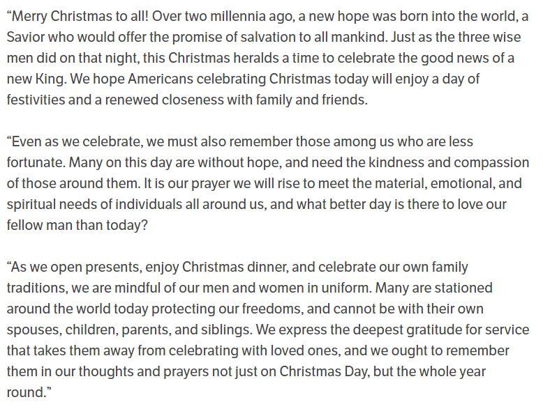 RNC Christmas message