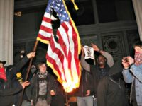 Anti-Trump Students Protest Hampshire College Raising American Flag to Full-Staff