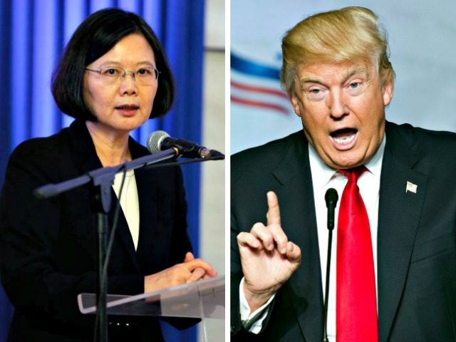 Taiwan Pres and Trump AP Photos