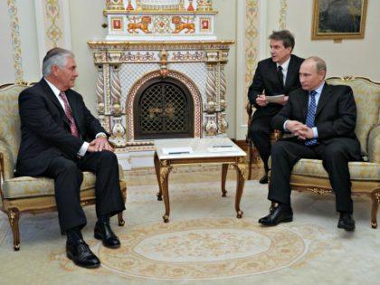 Tillerson and Putin AP