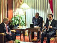 Trump, al-Sisi AP