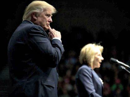 Trump and Betsy DeVos AP