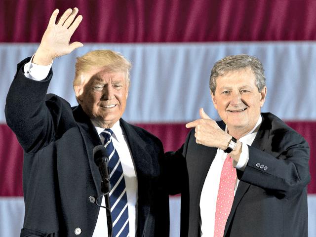 Trump and John Kennedy AP