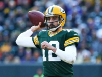 Minnesota Vikings v Green Bay Green Bay Packers throws quarterback Aaron Rodgers a pass in the second quarter against the Minnesota Vikings at Lambeau Field on December 24, 2016 in Green Bay, Wisconsin