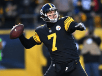 Ben Roethlisberger of the Pittsburgh Steelers drops back to pass in the first half during their NFL game against the Baltimore Ravens, at Heinz Field in Pittsburgh, Pennsylvania, on December 25, 2016