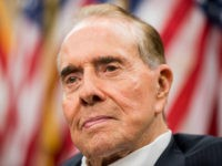 UNITED STATES - JULY 27: Former Senate Majority Leader Bob Dole, R-Kan., participates in the news conference in the Capitol Visitor Center marking the 25th anniversary of the Americans with Disabilities Act on Monday, July 27, 2015. (Photo By Bill Clark/CQ Roll Call) (CQ Roll Call via AP Images)