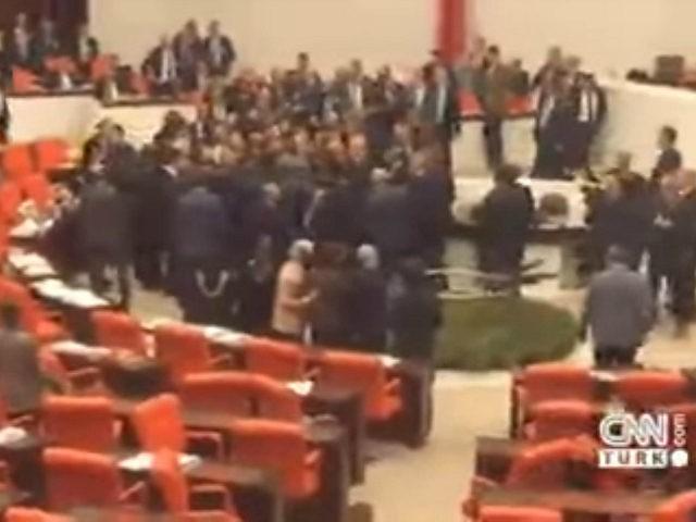 Turkish Parliament brawl