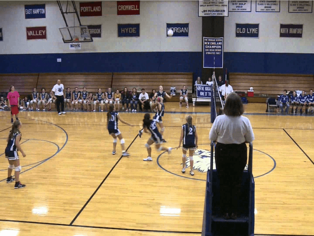 High School Girls Volleyball: East Hampton Vs Morgan 10-16-13.