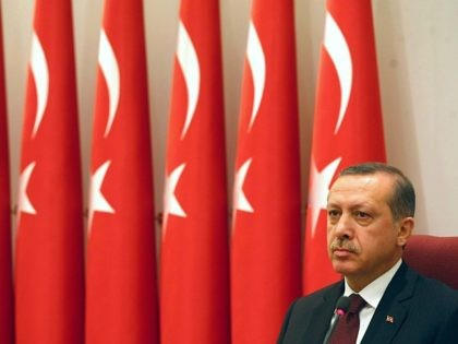Turkish Prime Minister Tayyip Erdogan chairs the annual meeting of the Supreme Military Council in Ankara November 30, 2010. The council is to decide the fate of three generals who have recently been suspended over their suspected ties with a coup plot, with the government determined to keep the officers …