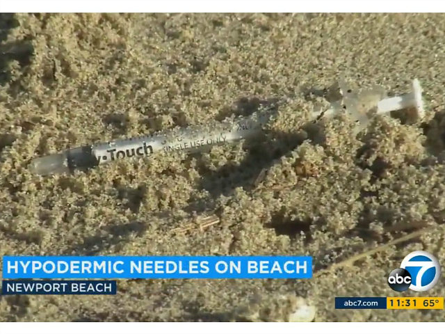 100s of Hypodermic Needles Wash Ashore in Newport Beach