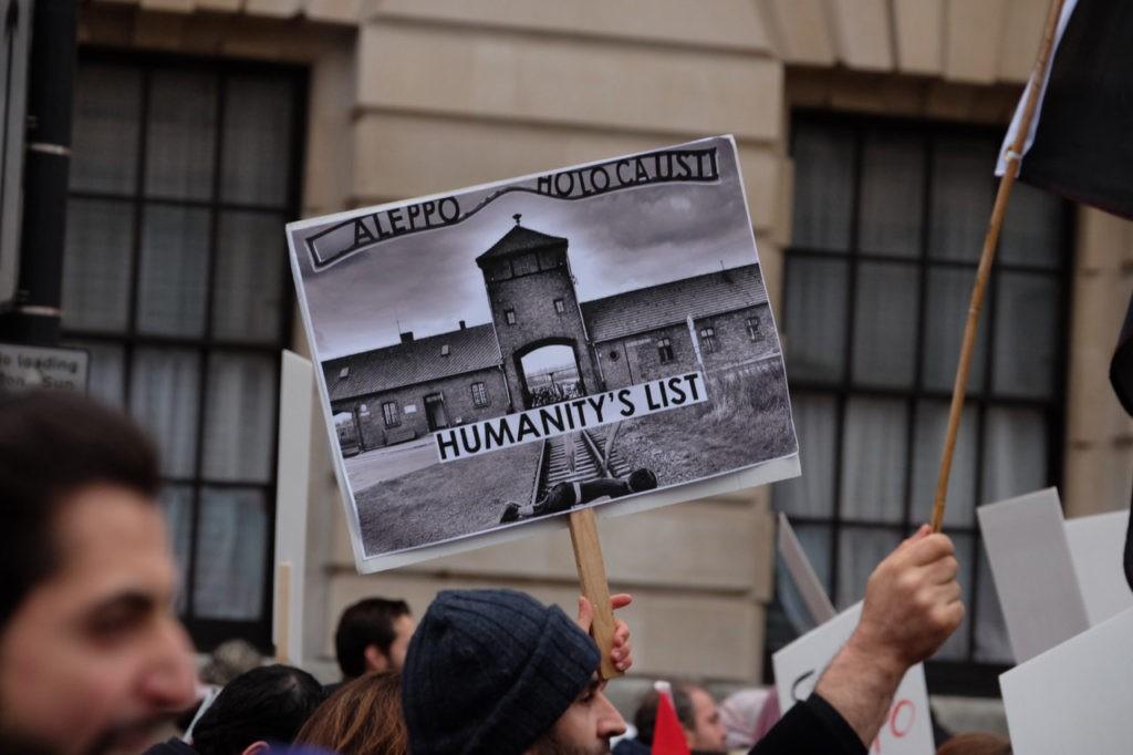 Aleppo march London