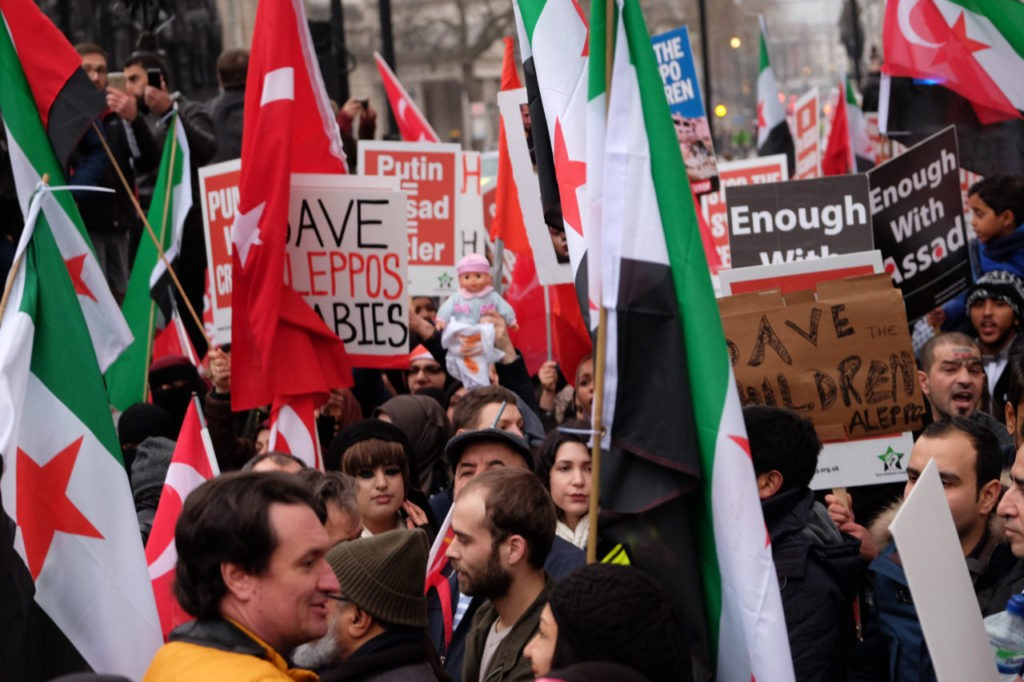 Aleppo march London