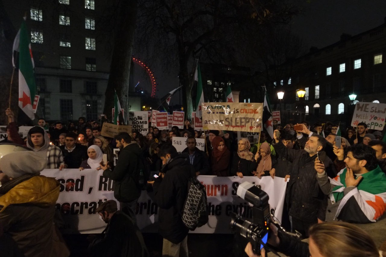 Syria Downing st protest