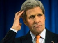 U.S. Secretary of State John Kerry speaks during a media briefing at the U.S. Embassy on February 21, 2015 in London, England. Earlier Kerry met with British Foreign Minister Philip Hammond and it's expected that the issue of the continuing conflict in the Ukraine will dominate talks between the two …