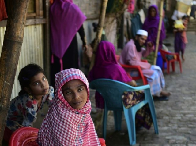 Myanmar's Rohingya refugees, seen at a camp in Teknaf, Bangladesh's Cox's Bazar, on November 26, 2016