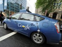 A Google self-driving car maneuvers through Washington, DC