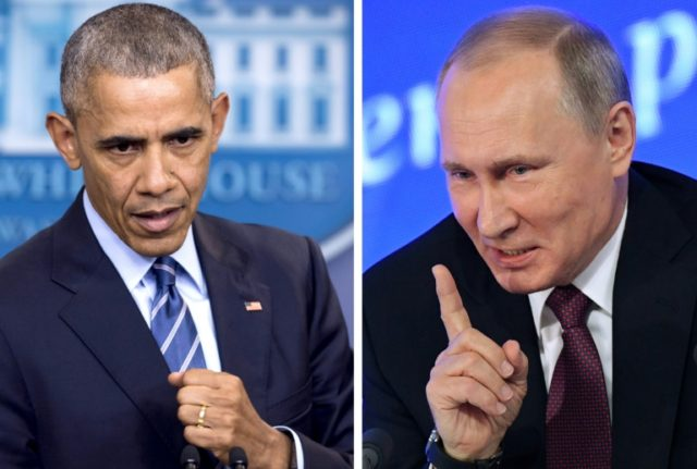 US President Barack Obama made good on a promise to punish Vladimir Putin's government for allegedly trying to tilt the 2016 US election
