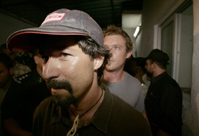 US journalist Dion Nissenbaum (foreground), seen in 2005, was detained in Turkey for two-and-a-half days without access to lawyers or contact with his family, according to the Wall Street Journal, his employer