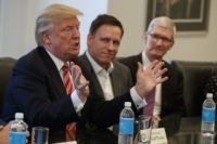 Donald Trump, Tim Cook, Peter Thiel