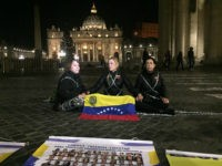 Wives of Venezuela's Political Prisoners Chain Selves Outside Vatican