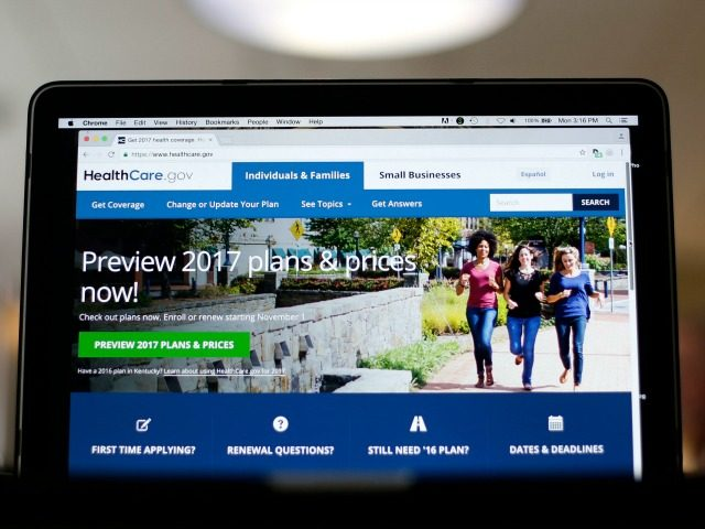 In this Oct. 24, 2016, file photo, the HealthCare.gov 2017 web site home page as seen in Washington.