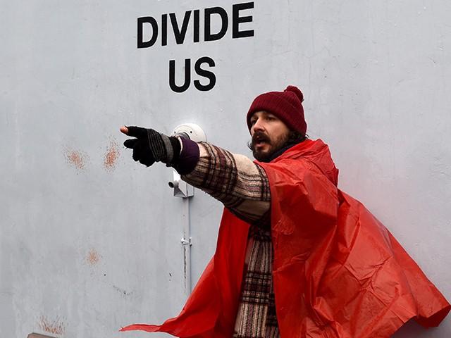 Shia LaBeouf Shouts at Wall to Kick Off 4-Year-Long Trump Protest