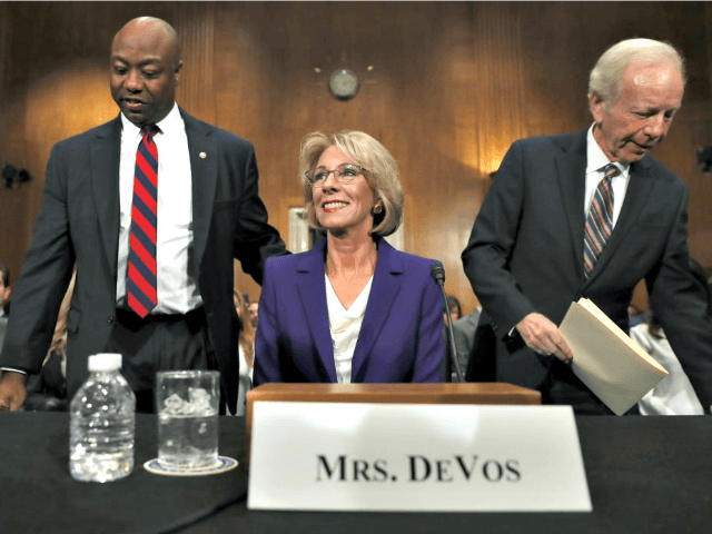 Betsy DeVos at Senate Hearing AP