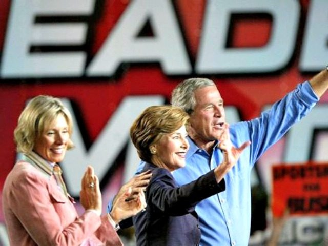 Bushes and Betsy DeVos Gettyimages