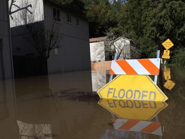 California rains and flooding (Matt Cowan / Getty)