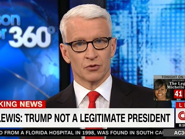 Anderson Cooper claims he was hacked after tweet calling Trump