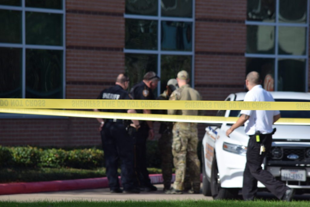 Deputies from several tactical and investigative teams converged quickly on the hospital after the shooting. (Photo: Bob Price/Breitbart Texas)