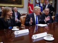 Donald-Trump-Automakers-GM-Mary-Barra-Fiat-Sergio-Marchionne-Jan-24-2017-Getty