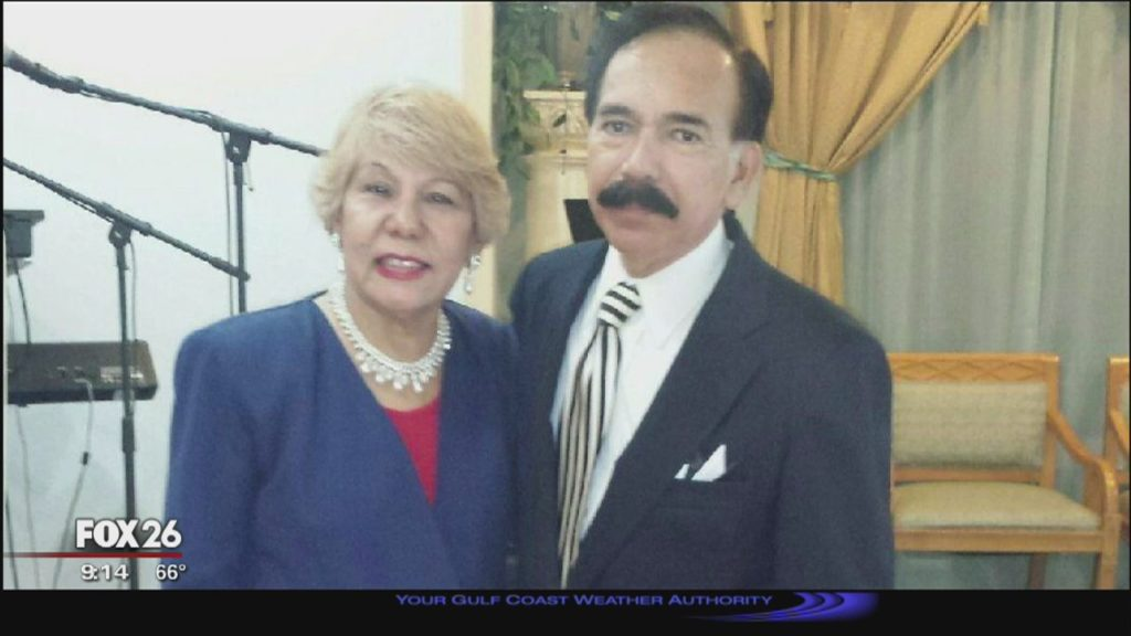 Maria Alicia Sabillon and her husband, Pastor Jesse Estrada Sabillon . (Photo: Fox 26 Houston video screenshot)