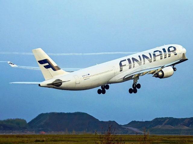 Finnair flight labeled '666' went to 'HEL' on Friday the 13th