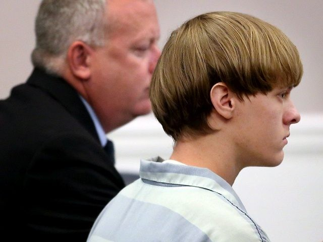 CHARLESTON, SC - JULY 16: Dylan Roof (C), the suspect in the mass shooting that left nine dead in a Charleston church last month, appears in court July 18, 2015 in Charleston, South Carolina. The Associated Press, WCIV-TV and The Post and Courier of Charleston are challenging a judge's order …