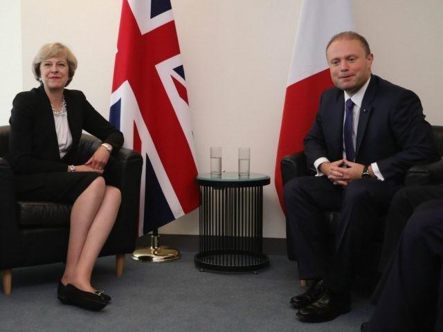 Theresa May and Joseph Muscat