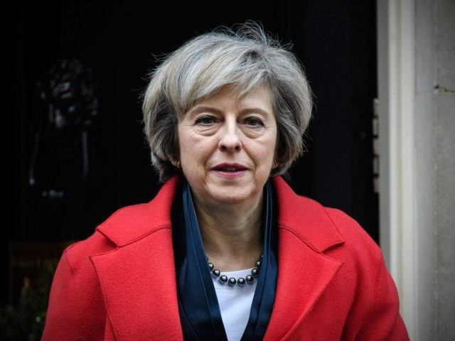Theresa May Leaves Downing Street To Attend A Commons Liaison Committee