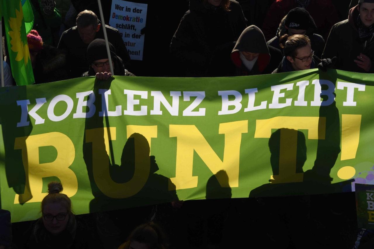 """Koblenz stays colourful"" (PATRIK STOLLARZ/AFP/Getty Images)"