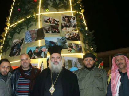 Greek Orthodox Archbishop Christmas tree martyrs Jerusalem screengrab