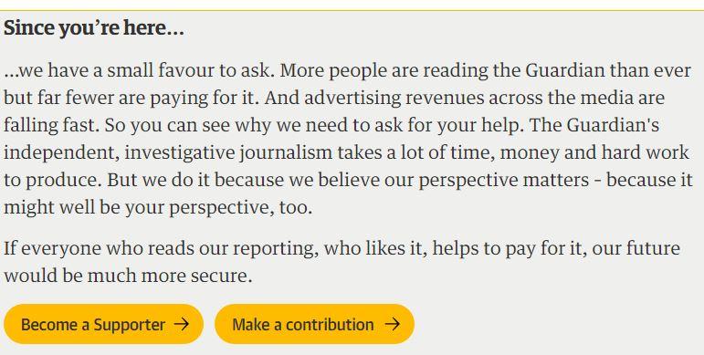 Guardian fundraising