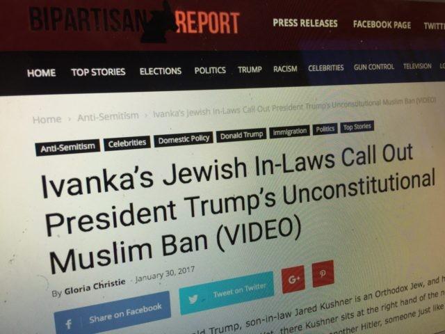 Bipartisan Report fake news (Joel Pollak / Breitbart News)