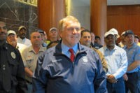Teamsters' Jimmy Hoffa Lavishes Praise on President Trump on Trade Policy