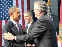 Jeb and Obama AP