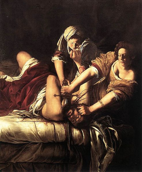 Artemisia Gentileschi, the Beheading of Holofernes